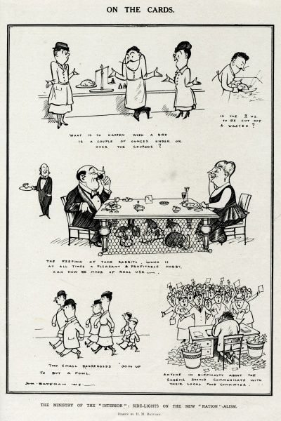 Rationing was introduced into Britain at the end of World War One, February 1918