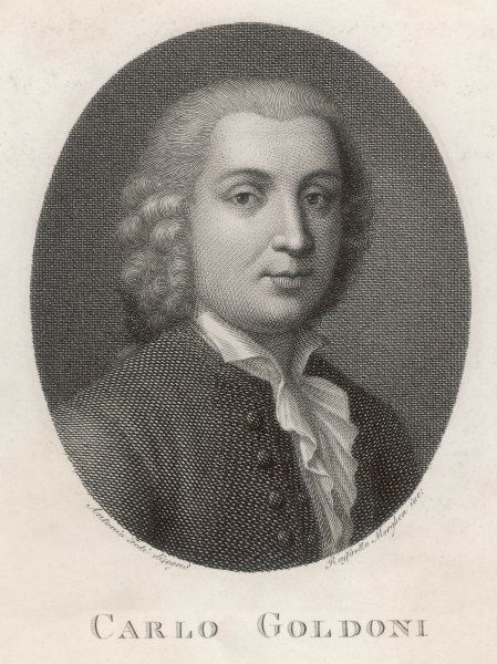 CARLO GOLDONI Italian playwright, who created modern Italian comedy in the style of Moliere