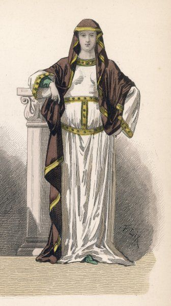 A Frenchwoman of the period of Charlemagne and his successors