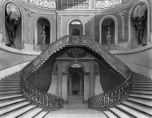 Carlton House, London: the staircase Date: 1812