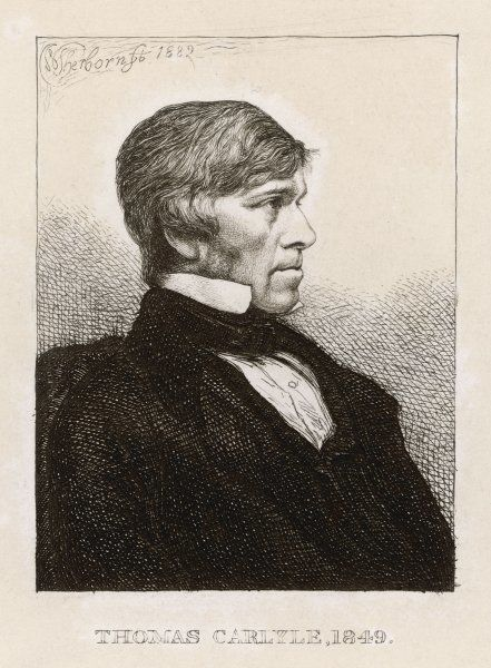 THOMAS CARLYLE Scottish philosopher and historian at age 54