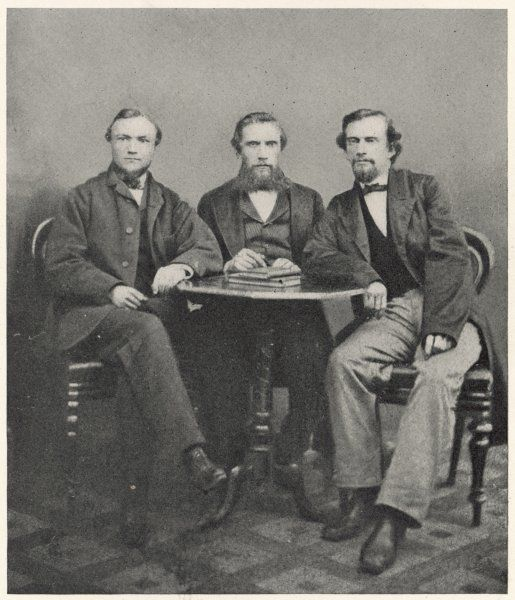 ANDREW CARNEGIE American industrialist and humanitarian, seen here with his cousin, George N.Lauder and Thomas N.Miller in 1862