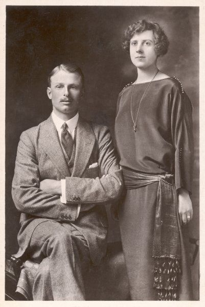 CHARLES ALEXANDER CARNEGIE 11th EARL of SOUTHESK and his wife, Princess Maud (formerly Duff), daughter of the Duke of Fife and Princess Louise Victoria