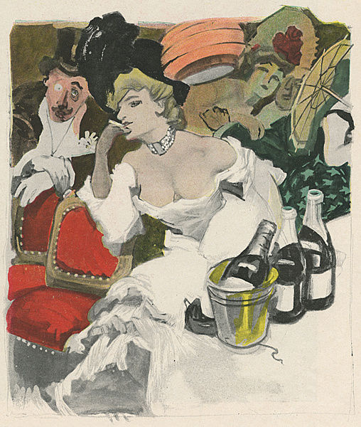 Carnival Party 1906. The champagne seems to be taking its toll at this