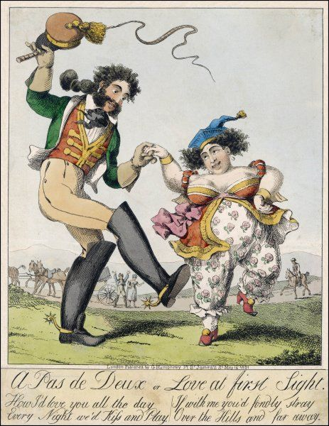 'A Pas de Deux or Love at First Sight' Satire on Caroline of Brunswick and Bergami