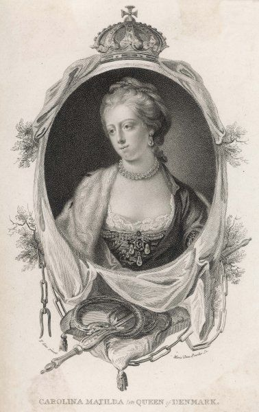 CAROLINE MATILDA Queen of Christian VII of Denmark and grandaughter of George II