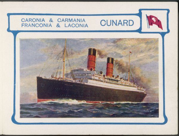 The 'Caronia., 'Carmania', 'Franconia' and 'Laconia' are sister passenger liners on the trans- Atlantic run