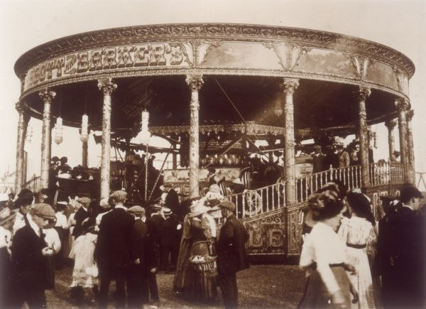 Abbott & Barker's standing top 'switchback' roundabout at Hampstead Fair, London