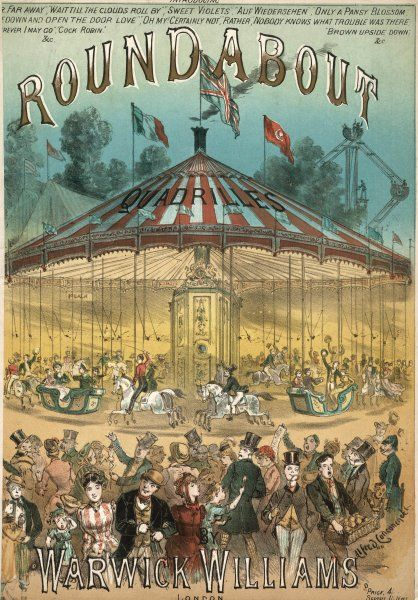 All the fun of a merry-go- round, enjoyed for a penny a ride by all, including off- duty soldiers and their sweethearts