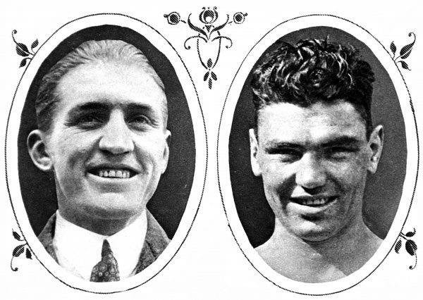 Photographic portraits of Georges Carpentier (1894-1975) and Jack Dempsey (1895-1983), the heavyweight boxers who fought for the World Championship in 1921