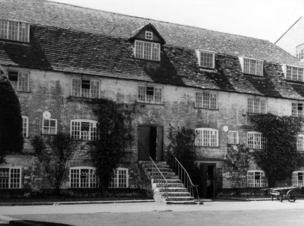 One of the older parts of the Wilton Royal Carpet Factory, Wiltshire, England, where the famous Wilton and Axminster carpets were manufactured until a takeover in 1995. Date: early 18th century