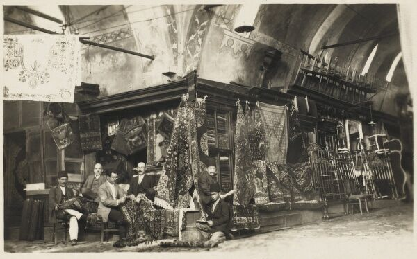 Carpet sellers at the Constantinople Bazaar