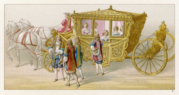The state carriage of Louis XIV and his queen Marie- Therese