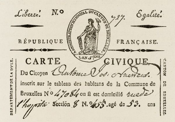 Every citizen is required to carry a carte civique - found without this identification, he or she is liable to be arrested and detained
