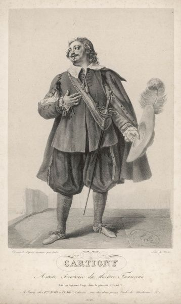 The French actor Cartigny as Captain Coop in 'La jeunesse d'Henri V', evidently shifted to the 17th century !