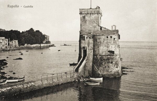 The Castle - Rapallo, Italy, guarding the entrance to the harbour