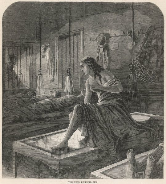 PRESUMED DEAD, Mme Ernest 'comes back to life' in the Paris Morgue, but her horrific experience sends her mad