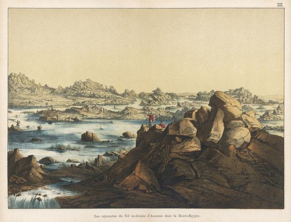 The cataracts of the Nile above Assouan
