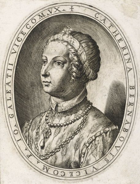 CATHERINA SFORZA wife of Giovanni Maria Sforza, Italian noble of the ruling house of Milano