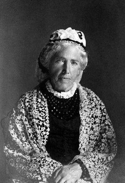 Photographic portrait of Catherine Gladstone (nee Glynne), the wife of William Ewart Gladstone, the English Liberal statesman
