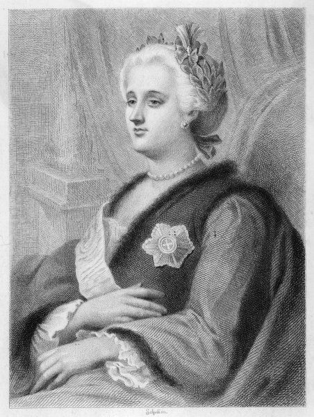 CATHERINE THE GREAT Empress of Russia 1762-96