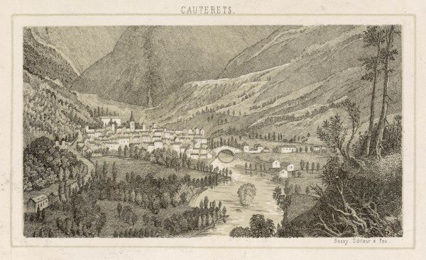 The village of Cauterets in the Pyrenees on the pilgrims way to the Compostelle Spa