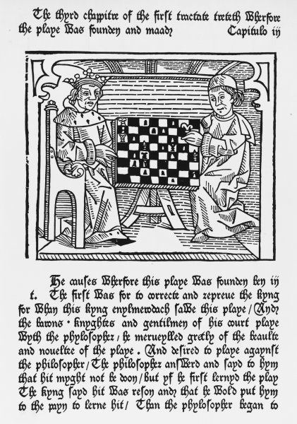 The philosopher teaches the king to rule through the allegory of Chess