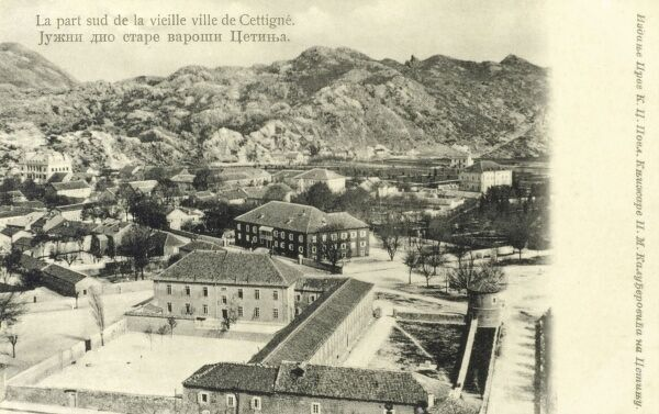 Cetinje - Montenegro - The south section of the old town of Cetinje, Montenegro Date: 1907
