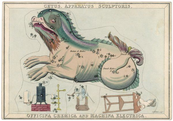 Cetus (sea monster) and chemical factory and electrical machinery constellation