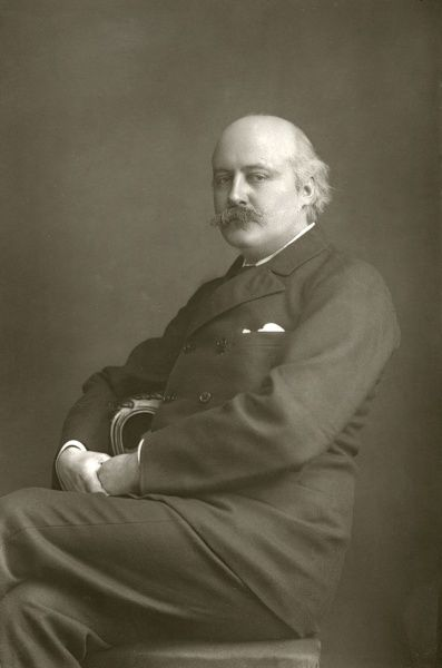 CHARLES HUBERT PARRY English composer, photographed in 1893. Date: 1848 - 1918