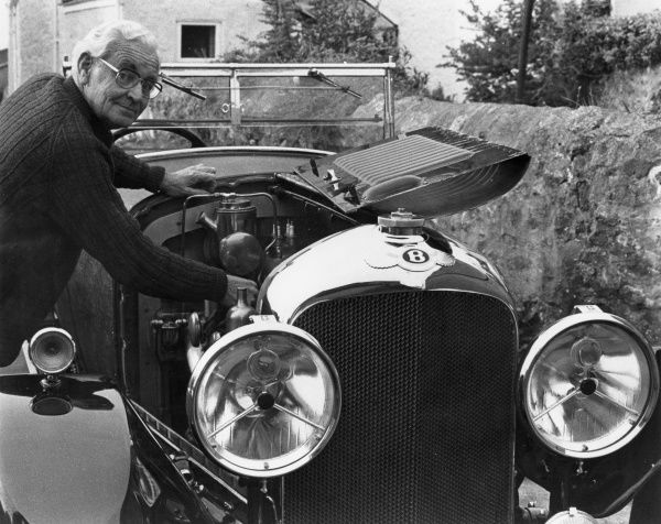 Arthur Cocks, the Chairman of the UK Bentley Club with his pride and joy, a spotless 1926 vintage Speed 6 Bentley