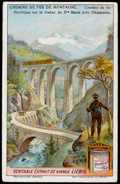 The viaduct of Sainte Marie gives tourists thrilling views as they take the mountain railway from the shores of lake Geneva to the ski resort of Chamonix