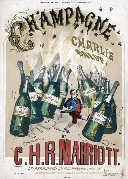 Cover illustration for the 'Champagne Charlie Galop' by C.H.R. Marriott