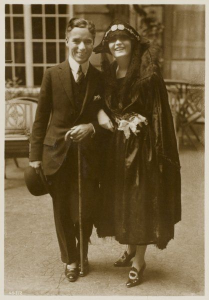 CHARLIE CHAPLIN (Sir Charles Spencer) English comedian and actor with Pola Negri