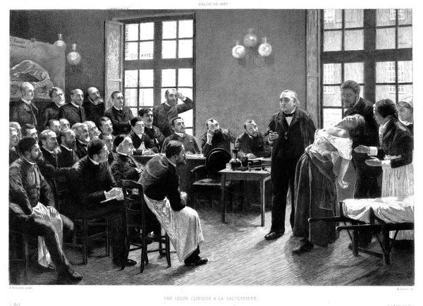 'UNE LECON CLINIQUE A LA SALPETRIERE' J M Charcot demonstrates the symptoms of hysteria with a patient under hypnosis