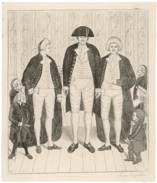 Charles Byrne (1761-1783) known as the Irish Giant, who was 8 feet 4 inches tall; exhibited himself in London