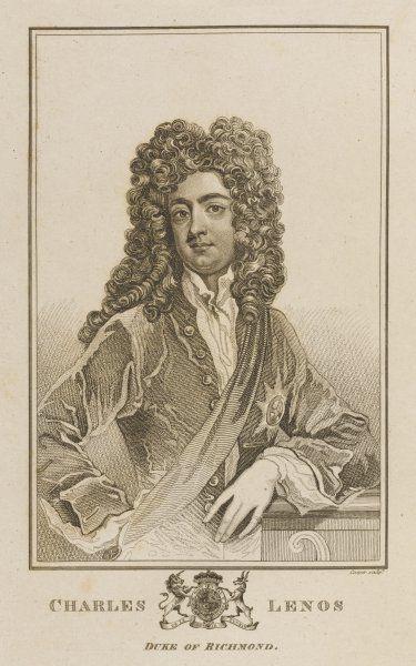 CHARLES LENOX, duke of RICHMOND natural son of Charles II by Louise de Keroualle : courtier and statesman, created duke by his fond papa