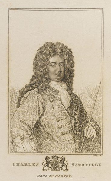 CHARLES SACKVILLE, sixth earl of DORSET 'the most accomplished gentleman in the voluptuous court of Charles II', poet and satirist
