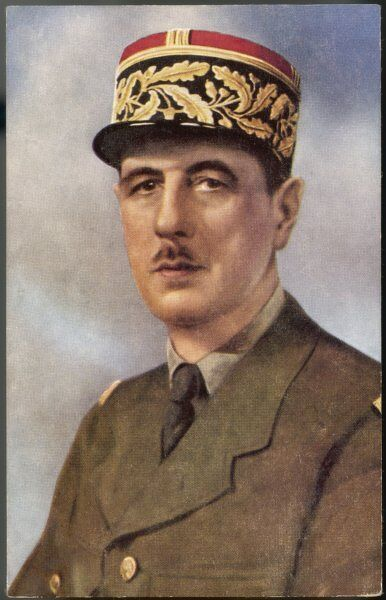 CHARLES DE GAULLE (1890 - 1970) French soldier, general and statesman, depicted as President du Comite National