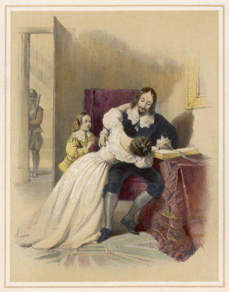 CHARLES I OF ENGLAND parting from his children