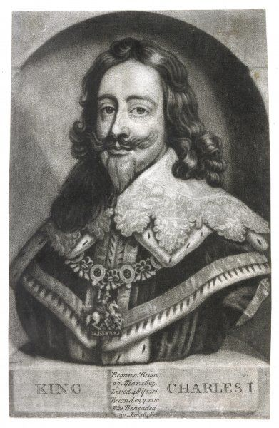 CHARLES I OF ENGLAND in his regalia