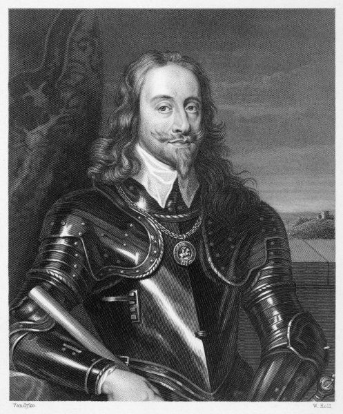 CHARLES I OF ENGLAND The King in full armour