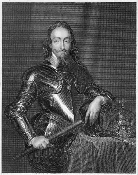CHARLES I OF ENGLAND in armour