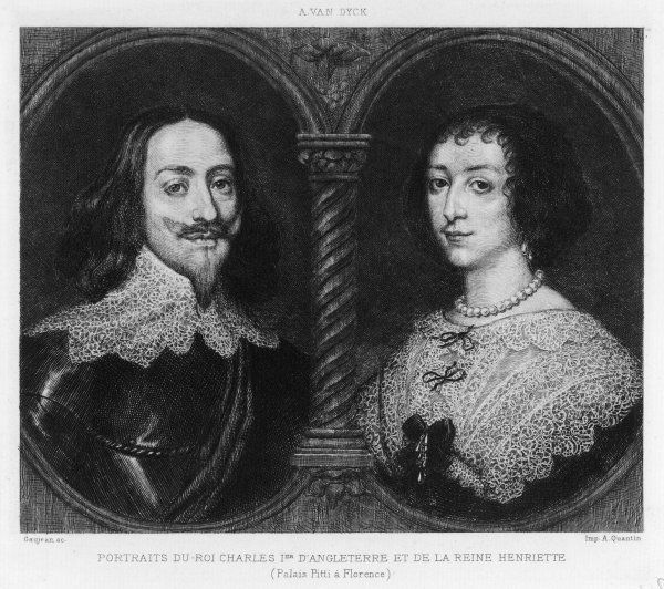 CHARLES I OF ENGLAND KING OF ENGLAND With Henrietta Maria