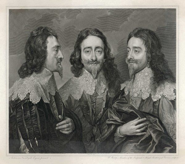 CHARLES I OF ENGLAND 'The triple Portrait of Charles I&#39