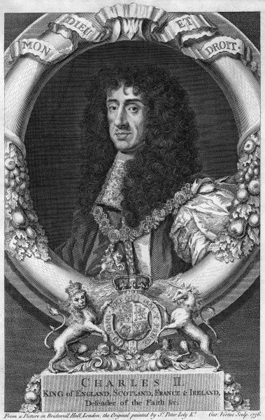 CHARLES II - English Monarch Date: 1630 - 1685