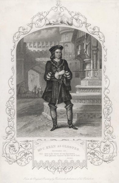 Charles Kean as Gloucester in Shakespeare's Richard III Act I Scene I