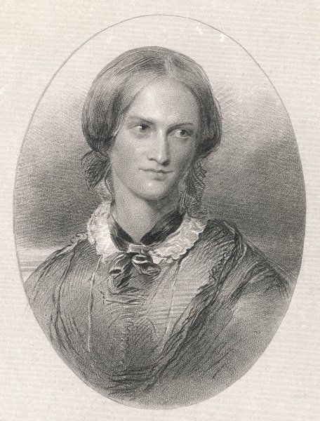 CHARLOTTE BRONTE Oval portrait of the British author