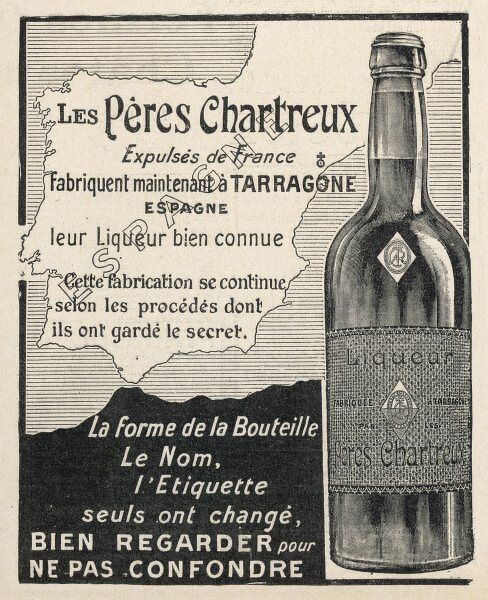 Though expelled from France by the Republican Government, the Carthusian monks exiled to Tarragona, Spain, continue to produce their world-famous Chartreuse liqueur