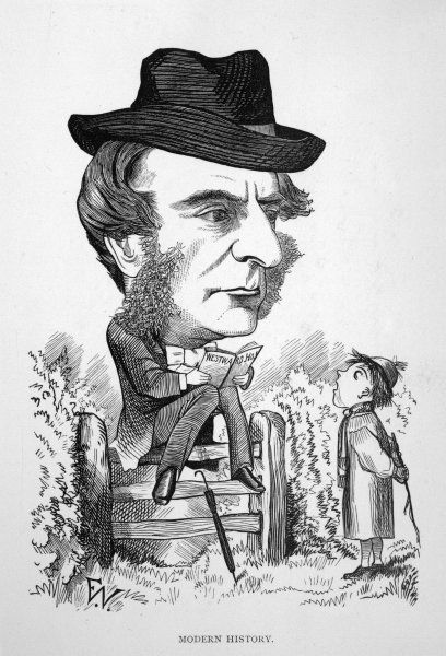 CHARLES KINGSLEY English writer and clergyman: a satire on his popular novel, Westward Ho!